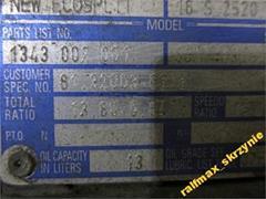 Skrzynia biegów ZF 16S2520 do MAN TGX TGA i inne