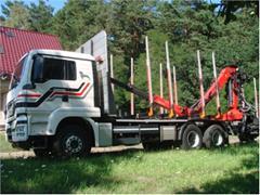 MAN TGS 33.540 6x4 do przewozu drewna stosowego