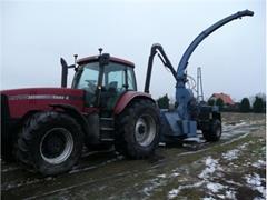 Case IH mx 285 +Rębak Bruks 605.  ciągnik