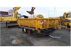 Wagon kolejowy z kontenerem (muldą)