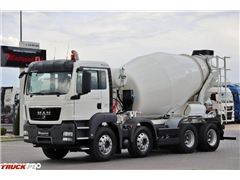 MAN TGS 32.360 / 8X4 / BETONOMIESZARKA 9 M3 / MANUAL /