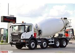 Scania P 410 / 8X4 / BETONOMIESZARKA 9M3 / 13 TYS KM !!!