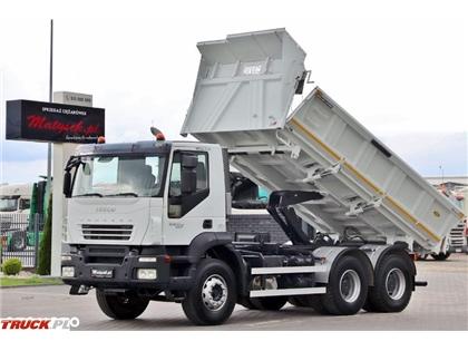 Iveco TRAKKER 360 / 6X4 / 2 STR. WYWROTKA / HYDROBURTA /
