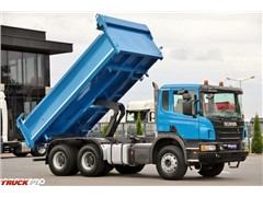 Scania P 380 / 6X4 /  2 STR. WYWROTKA / HYDROBURTA / EURO