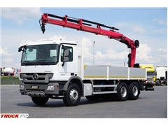 Mercedes / ACTROS / 2536 / SKRZYNIOWY + HDS HIAB / MANUAL /