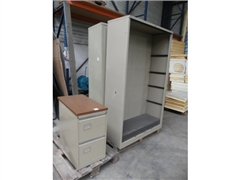 Metal cabinets, cloakroom cabinet with 3 doors, su