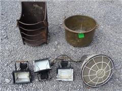 Metal log Range, copper pot, 3 spots to check, 1 l