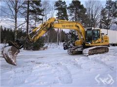Crawler excavators Komatsu PC210LC-11 with tiltrot