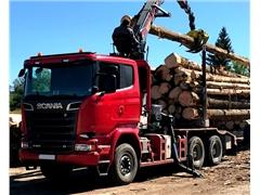 Do drewna do dluzycy SCANIA R580 V8 6x4 z EPSILON