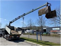 Scania P340 6X2 EURO 5 TIPPER + HIAB 166E-5 MET REMOTE