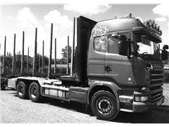 Do drewna SCANIA R580 V8 6x4 04/2014 Euro 6